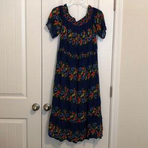 OLD NAVY FLORAL OFF THE SHOULDER DRESS